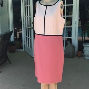 Beautiful Loft Classic Shift Dress 14 pink pencil